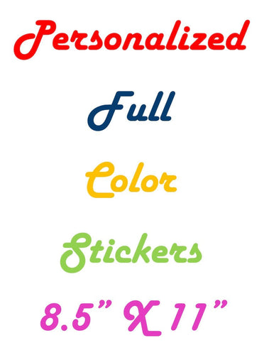 Full Color Personalized Stickers | DG Custom Graphics