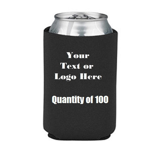 Custom Personalize Your Own Can Cooler (lot Of 100) | DG Custom Graphics