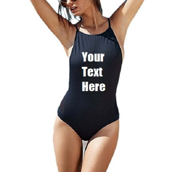 Custom Personalized Designed One-piece Sexy Backless Monokini Swim Suit