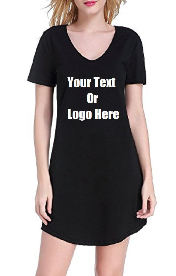 Custom Personalized Designed Women's Nightgown Cotton Nightwear Sleepwear