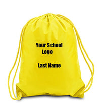 Custom Personalized Drawstring Backpack. Great For School Or College.