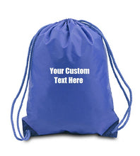 Load image into Gallery viewer, Custom Personalized Drawstring Backpack. Great For School Or College.