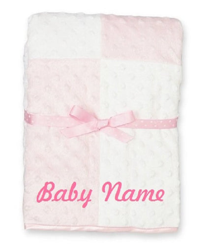 Custom Personalized Monogrammed/embroidered Baby Blanket