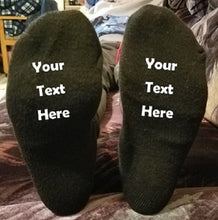 Load image into Gallery viewer, Custom Personalized Designed Novelty Sock Bottoms | DG Custom Graphics