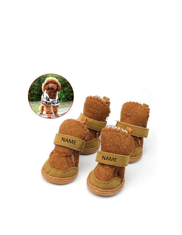 Custom Personalize Design Your Puppy Dog Shoes Booties Boots (pet Clothing)
