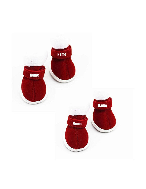 custom personalize design your puppy dog christmas shoes booties