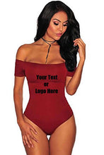 Load image into Gallery viewer, Custom Personalized Designed Women Off The Shoulder Top Short Sleeve Bodysuit