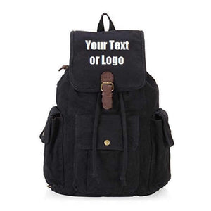 Custom Personalized Canvas Backpack 28 Liter Great For School Or College