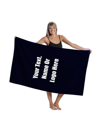 Custom Personalized Oversized Terry Velour Beach Towel