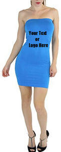 Custom Personalized Designed Womens Seamless Strapless Tube Dress | DG Custom Graphics