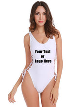 Load image into Gallery viewer, Custom Personalized Designed Solid Color Bikini Swimsuit For Women One Piece Maillot Swimsuit