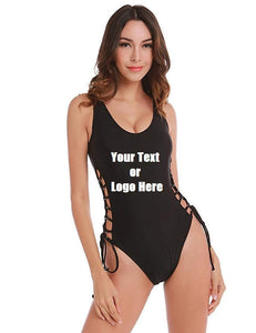 Custom Personalized Designed Solid Color Bikini Swimsuit For Women One Piece Maillot Swimsuit | DG Custom Graphics