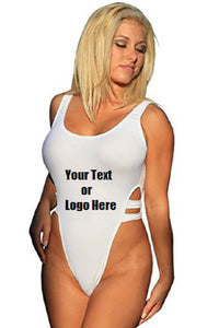 Custom Personalized Designed One Piece High Cut Bathing Swim Suit | DG Custom Graphics