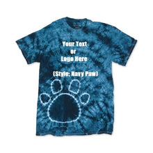 Load image into Gallery viewer, Custom Designed Personalized Tie Dye Paw T-shirts