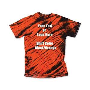 Custom Designed Personalized Tie Dye Tiger Stripe T-shirts | DG Custom Graphics