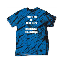 Load image into Gallery viewer, Custom Designed Personalized Tie Dye Tiger Stripe T-shirts