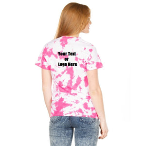 Custom Designed Personalized Tie Dye Breast Cancer Awareness T-shirts | DG Custom Graphics