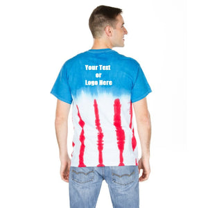Custom Designed Personalized Tie Dye Flag T-shirts | DG Custom Graphics