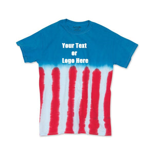 Custom Designed Personalized Tie Dye Flag T-shirts