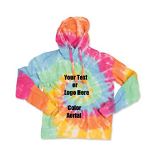 Load image into Gallery viewer, Custom Personalize Design Your Spiral Tie Dye Hoodie
