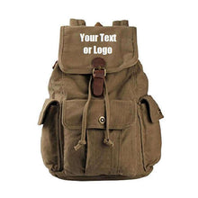 Load image into Gallery viewer, Custom Personalized Canvas Backpack 28 Liter Great For School Or College