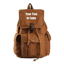Load image into Gallery viewer, Custom Personalized Canvas Backpack 28 Liter Great For School Or College | DG Custom Graphics