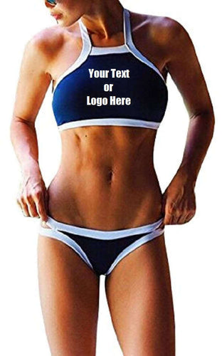 Custom Personalized Designed Women's Printed Two Piece Bathing Swim Suit | DG Custom Graphics