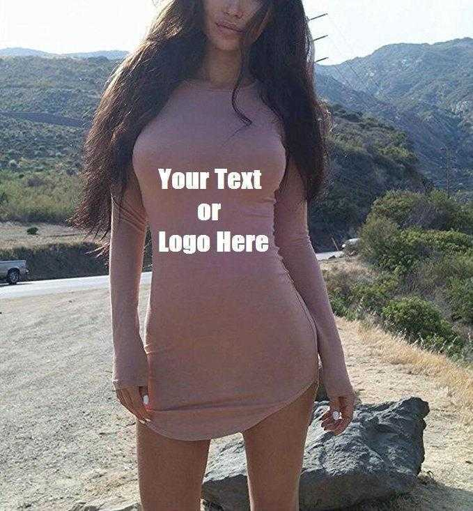 83386bcc2695 Load image into Gallery viewer, Custom Personalized Designed Womens Long  Sleeve Soft Lining Bodycon T ...