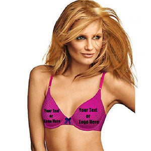 Custom Personalized Designed Women's One Fab Fit T-Shirt Bra | DG Custom Graphics