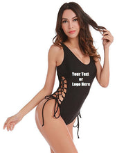 Load image into Gallery viewer, Custom Personalized Designed Solid Color Bikini Swimsuit For Women One Piece Maillot Swimsuit | DG Custom Graphics