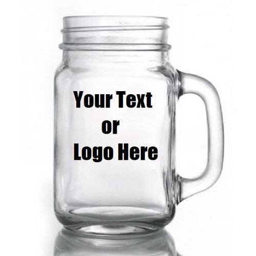 Custom Personalized Designed Mason Jars For Weddings, Parties, Restaurants Or Bars (sold In Lots)