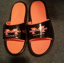 Load image into Gallery viewer, Custom designed athletic slides with your personal or business logo.