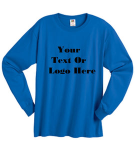 Custom Personalized Design Your Own Long-sleeve T-shirt | DG Custom Graphics