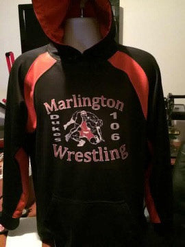 Custom Made Hoodie With Your Schools Logo And Sport | DG Custom Graphics