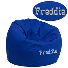 Load image into Gallery viewer, Custom Designed Bean Bag Chair for Kids or Adult's With Your Personalized Name