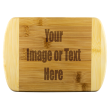 Load image into Gallery viewer, Personalized Round Edge Wood Cutting Board | teelaunch