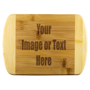 Personalized Round Edge Wood Cutting Board | teelaunch