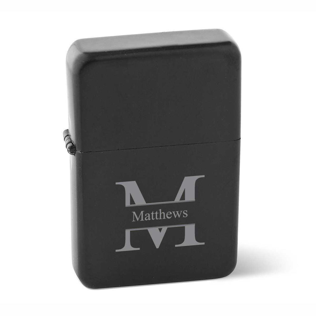 Personalized Lighters - Wind Proof - Matte Black - Groomsmen Gifts | JDS