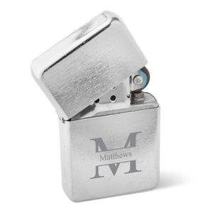 Personalized Lighters - Stainless Steel - Wind Proof - Groomsmen Gifts | JDS