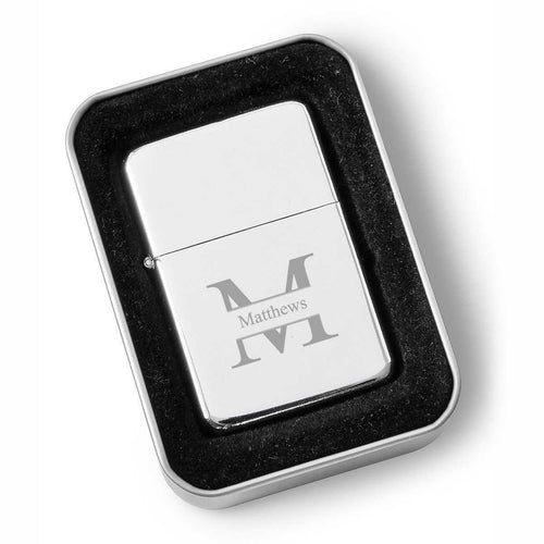 Personalized Lighters - Chrome - Oil Lighter - Groomsmen Gifts | JDS
