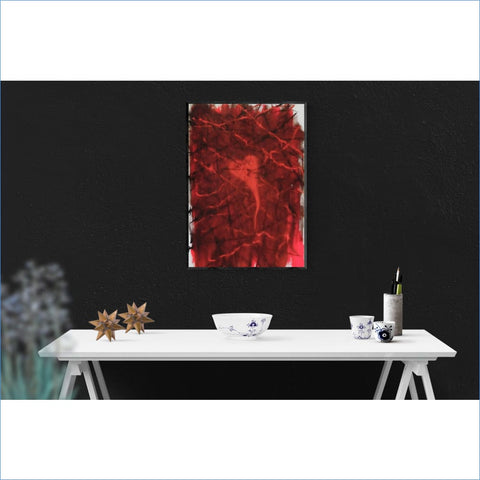 Angelo M. Gagliano | Red Heart Matrix Original Painting