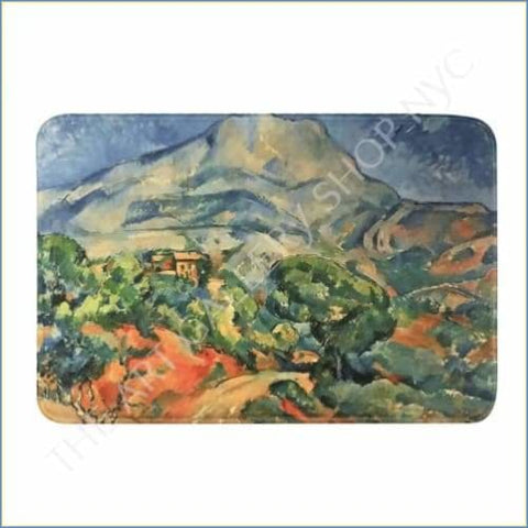 Art Shop | Paul Cezanne Rainbow Mountain Bath Mat Size 31x 20