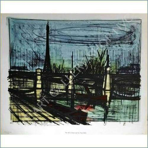 Bernard Buffet | The River Seine And Tour Eiffel 1964 Original Lithograph