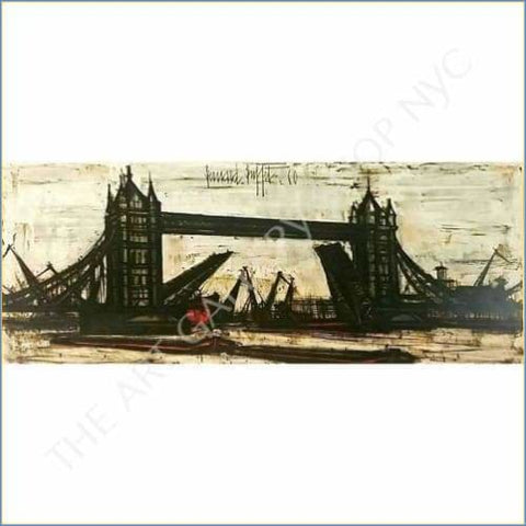Bernard Buffet | Tower Bridge London 1960 Original Lithograph