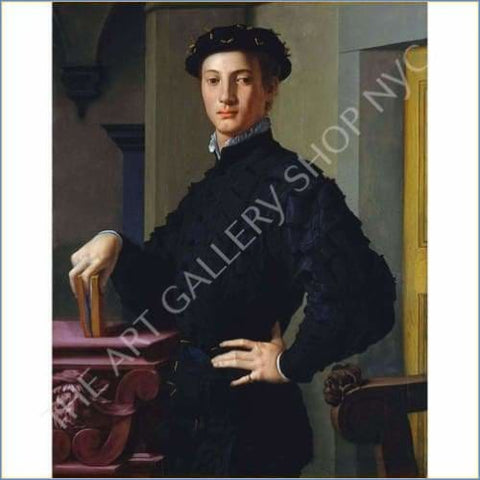 Bronzino | Portrait Of A Young Man 1530 Vintage Typography MoMA Edition Small