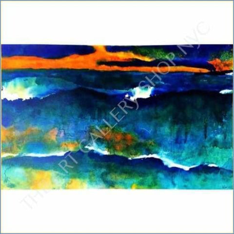 Emil Nolde | Heavy Seas At Sunset 1930 1935 Original Heliogravure