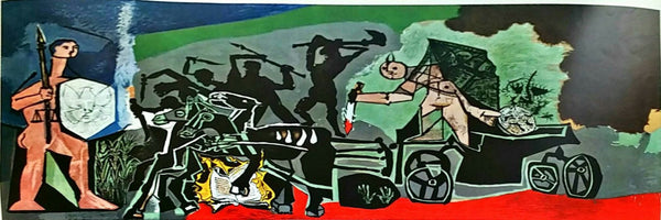 Pablo Picasso War 1968 Color Lithograph - The Art Gallery Shop NYC