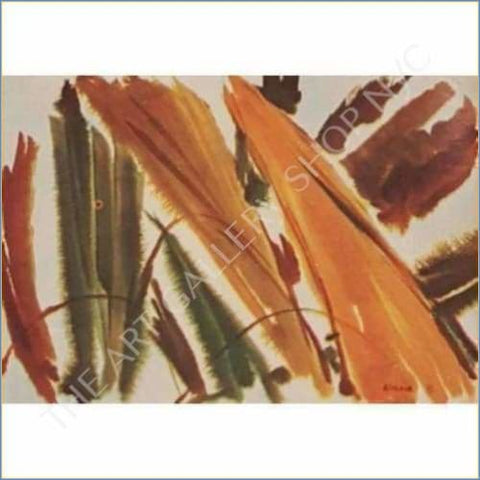 Norma Green | Tropical Leaves 1971 Original Lithograph