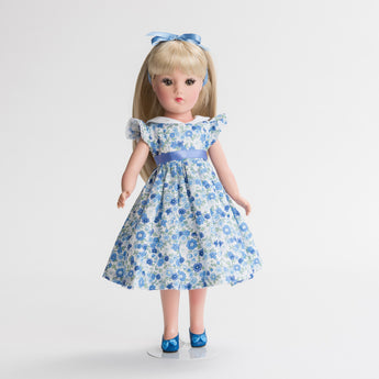 Petite Floral Cotton Dress with Collar