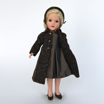 Wool Tweed Hat, Coat and Silk Taffeta Dress
